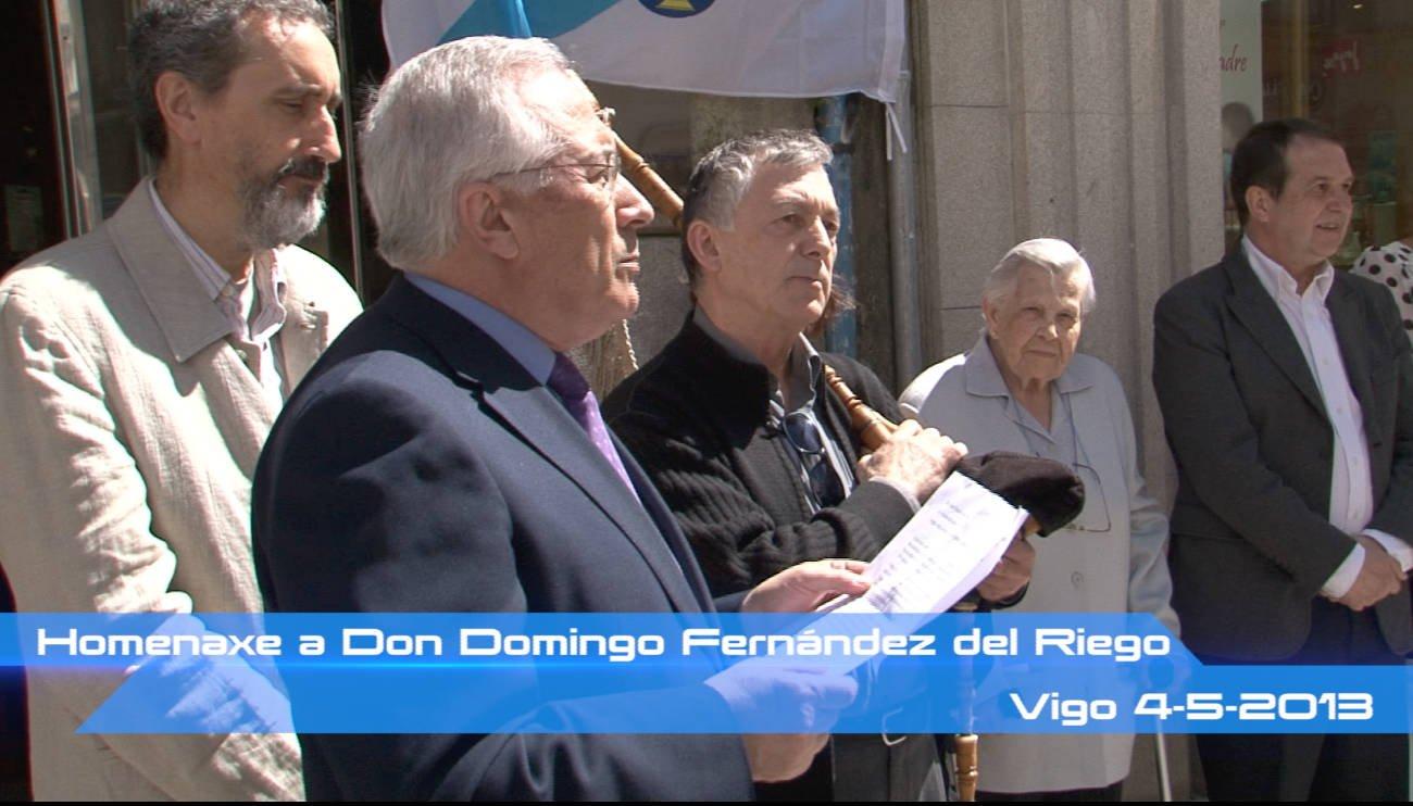 Homenaxe a D. Domingo Fernández del Riego