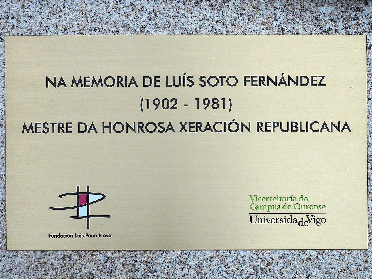 """""""Vieiros da memoria"""" de Luís Soto."""