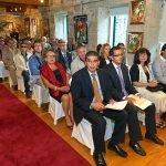 Acto de nomeamento de Don Benito Montero Prego como fillo adoptivo do Concello de Poio