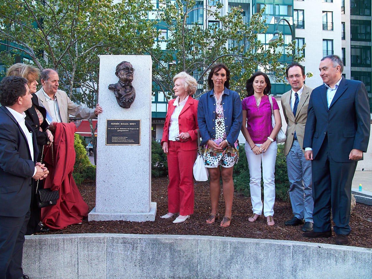 Inauguración do busto a Bouza Brey IXUGA