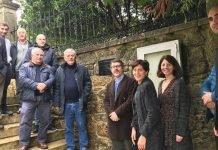 O cemiterio de Santo Ourente acolleu un acto a prol do uso do galego